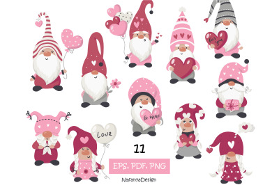 Valentine Gnome Clipart