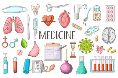 Medicine and Healthcare Doodles