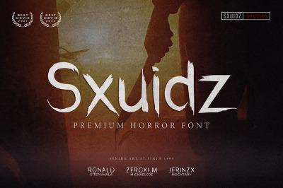 Sxuidz - Premium Horror Font