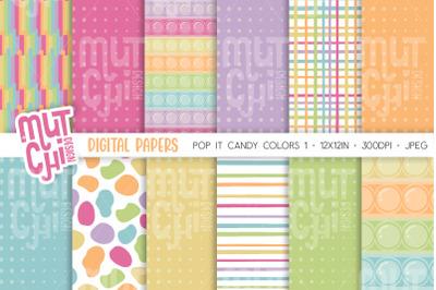 Candy Colors Fidget Pop It Digital Papers