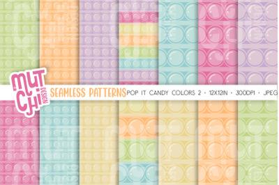 Candy colors Fidget Toys Pop It Seamless patterns