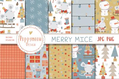 Merry Mice paper set