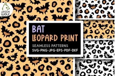 Bat leopard print svg Halloween patterns Bat seamless pattern svg