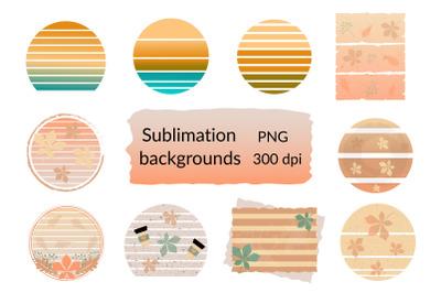 Fall Sublimation Background. Autumn Sublimation PNG