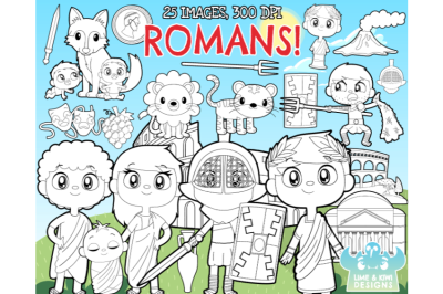 Ancient Rome Digital Stamps - Lime and Kiwi Designs