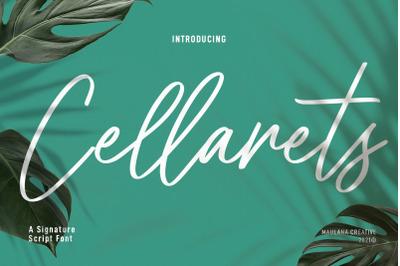 Cellarets Signature Script Font