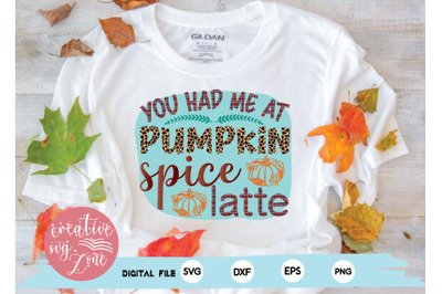 you had me at pumpkin spice latte