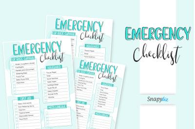 Emergency Checklist Printable