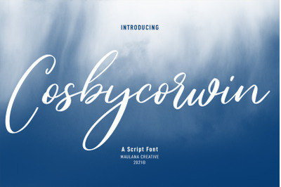 Cosbycorwin Script Font