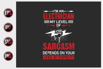 Electrician T Shirt Design Vector.