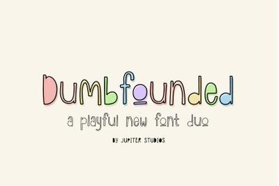 Dumbfounded Font (Outline Fonts, Doodle Fonts, Sketch Fonts)