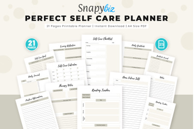 Perfect Self Care Planner