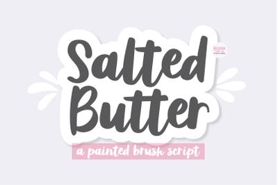 SALTED BUTTER Brush Script Font