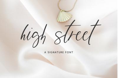 High Street Script