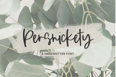 Persnickety Script