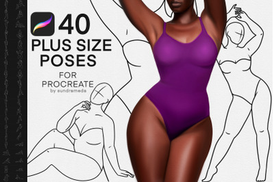 40 Plus Size Female Body Brushes Stamp for Procreate