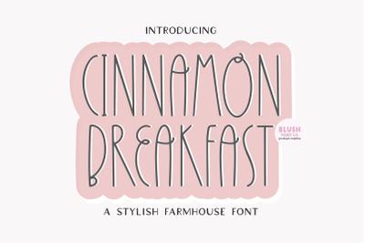 CINNAMON BREAKFAST Farmhouse Font