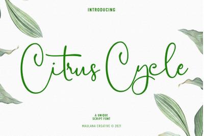 Citrus Cycle Script Font