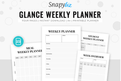 Glance Weekly Planner