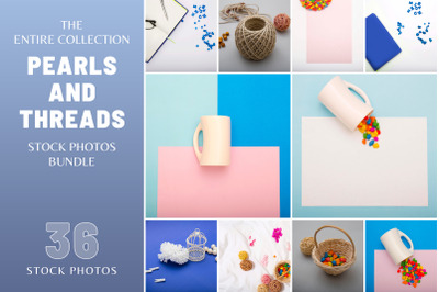 Pearls and Threads Stock Photo Bundle