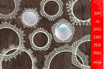 Round openwork frames. SVG + sublimation