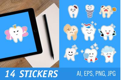 Teeth - Printable Stickers for Cricut