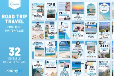 Road Trip Travel Pinterest Pin Template