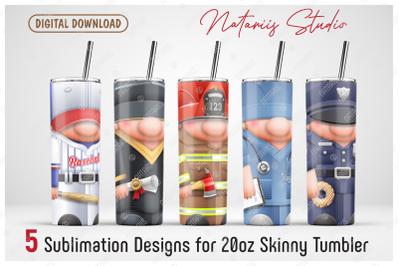 5 Cute sublimation designs - 20oz SKINNY TUMBLER.