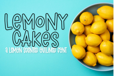 Lemony Cakes - An Outlined Font