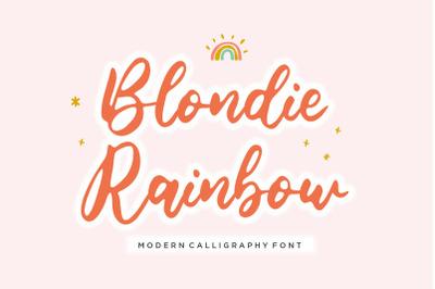 Blondie Rainbow Modern Calligraphy Font
