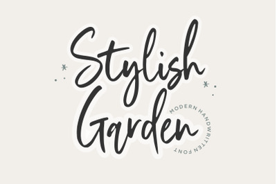 Stylist Garden Modern Handwritten Font