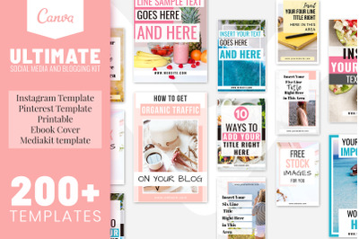 Social Media Bundle And Blogging Kit Bundle   Printable Bundle