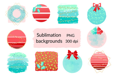 Christmas Sublimation Background. Winter Sublimation PNG