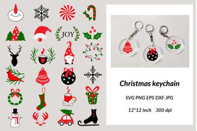 Christmas Keychain SVG. Xmas Bundles. Christmas Sign SVG