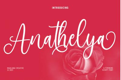 Anathelya Feminine Script Font