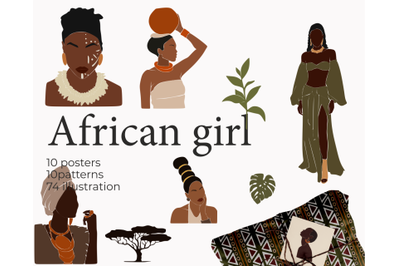 African girls, abstract woman, colorful black, business woman png
