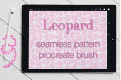 Leopard Procreate Seamless pattern brush. Animal print