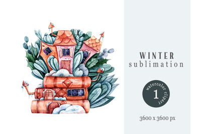 Watercolor Christmas sublimation / clipart - 1 png file