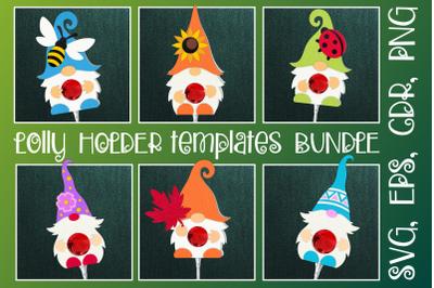 Gnomes Lolly Holder Templates Bundle SVG