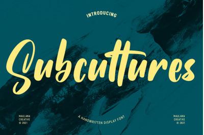 Subcultures Handwritten Display Font