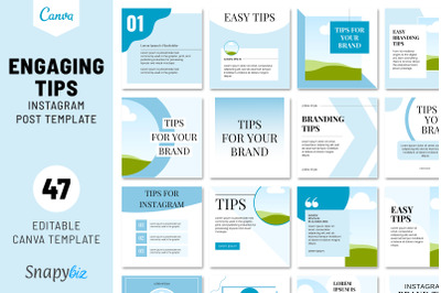 Engaging Tips Instagram Post Template