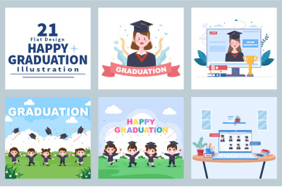 21 Online Virtual Graduation Students Celebrating