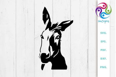 Donkey Svg File, Farm Animal SVG