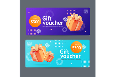 Gift Voucher Coupon Set
