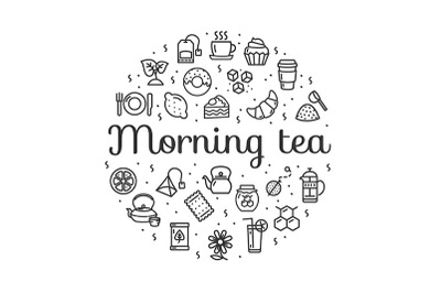 Morning Tea Round Design Template