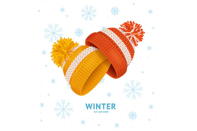 Winter Time Concept Knitted Hats