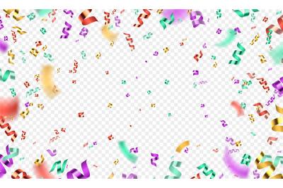 Colorful 3d confetti explosion, party or carnival background. Realisti