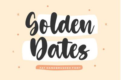 Golden Dates Modern Calligraphy Font