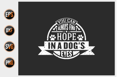Dog typographic quotes design vector template.