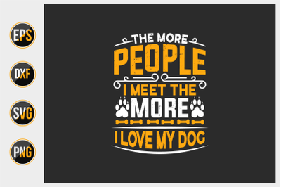 Dog typographic quotes vector template.
